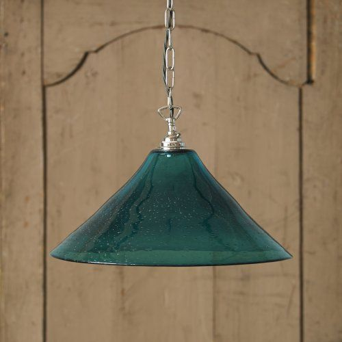 This turquoise coloured masterpiece is hand blown, and very bubbly and beautiful