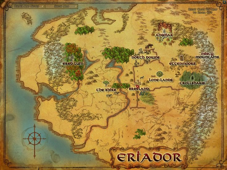 lord of the rings map of middle earth | Visions of the Ring - Concepts Fansite for Lord of the Rings Online