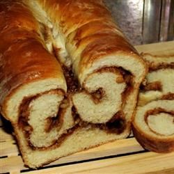 Cinnamon Swirl Bread for the Bread Machine//made two loaves of this and one was…