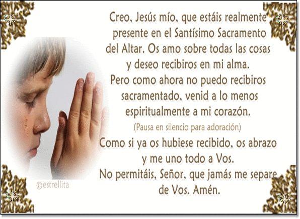 oracion de comunion espiritual