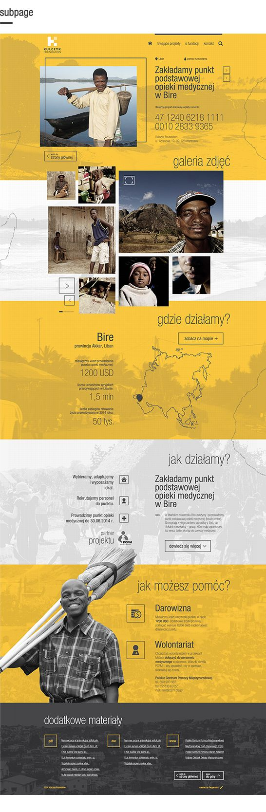 Website for Kulczyk Foundation by Marcin Piwnicki, via Behance