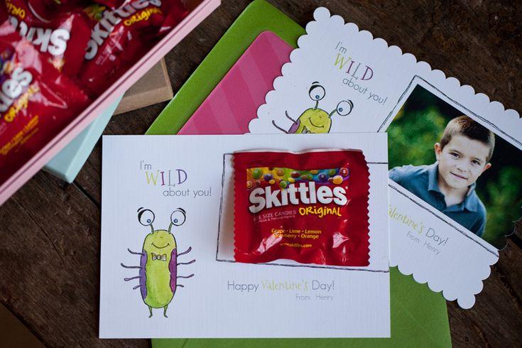 Valentine with Skittles | winter | Pinterest