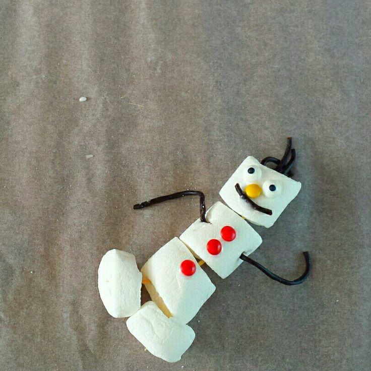 Marshallow Olaf  Tutorial www.kinderfeestjes-groningen.nl/blog