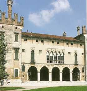 Middle Ages castle of Veneto, Italy