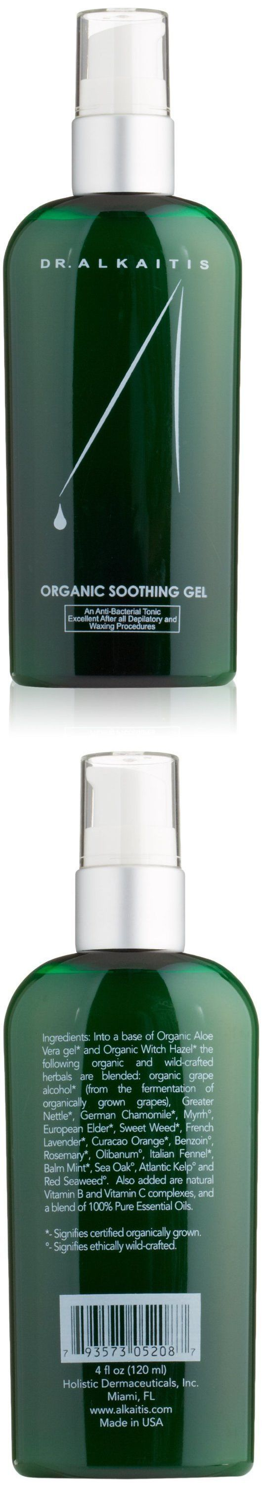 Cleansers and Toners: Dr. Alkaitis Organic Soothing Gel, 4 Fl. Oz. BUY IT NOW ONLY: $48.5