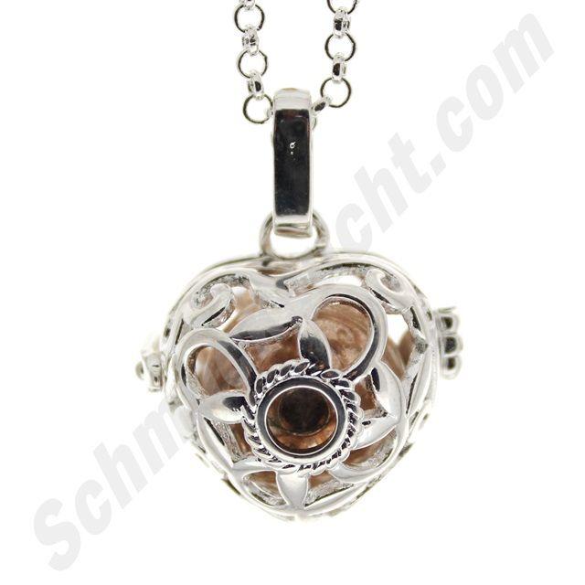 wunderschöner Herzanhänger mit funkelndem Stein für deine Klangkugel!