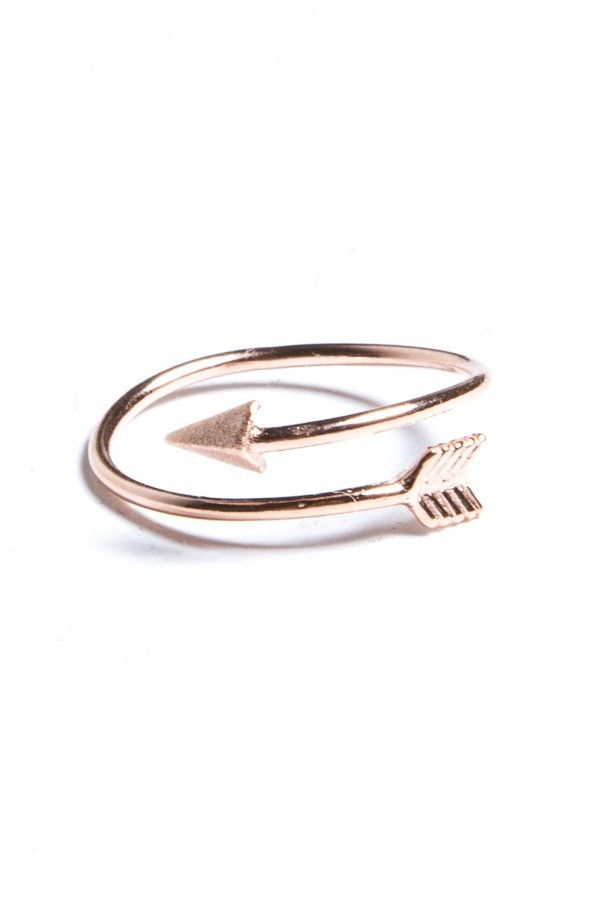 In rose gold, gold, silver-arrow ring...Fashion ring only $0.99 shop at…