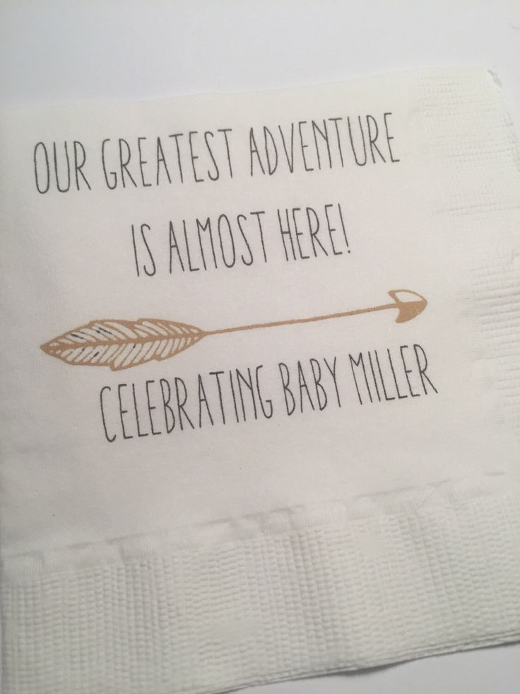 Personalized Greatest Adventure Begins Baby Shower Woodland Animal Baby Shower Set of 25 Cocktail Napkins by SparkleandSparrow on Etsy https://www.etsy.com/listing/479730396/personalized-greatest-adventure-begins