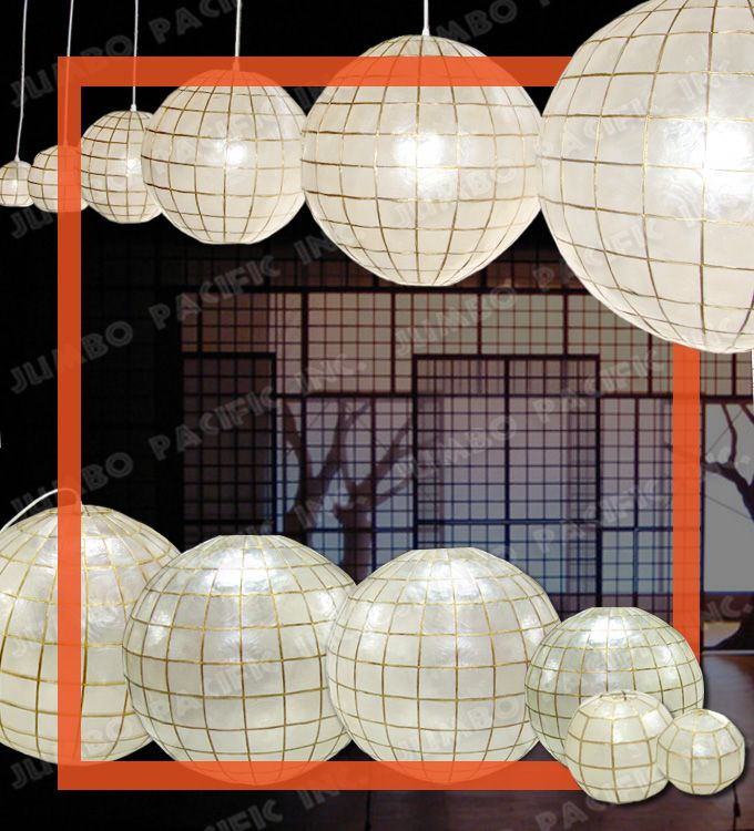 Hanging Capiz Shell Globe Chandelier Is Perfect For Home