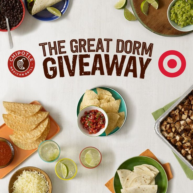 Runners-up could win a Chipotle Catering party for 20 and a $25 Target GiftCard. Text now through September 30th. We'll draw winners by October 8th.* -Joe Details coupons Chipotle http://www.pinterest.com/TakeCouponss/chipotle-coupons/