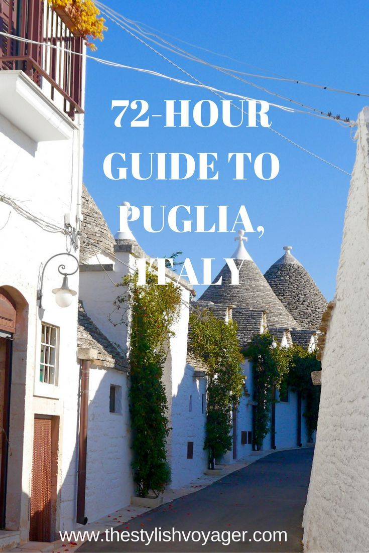If you visit Puglia Italy read my