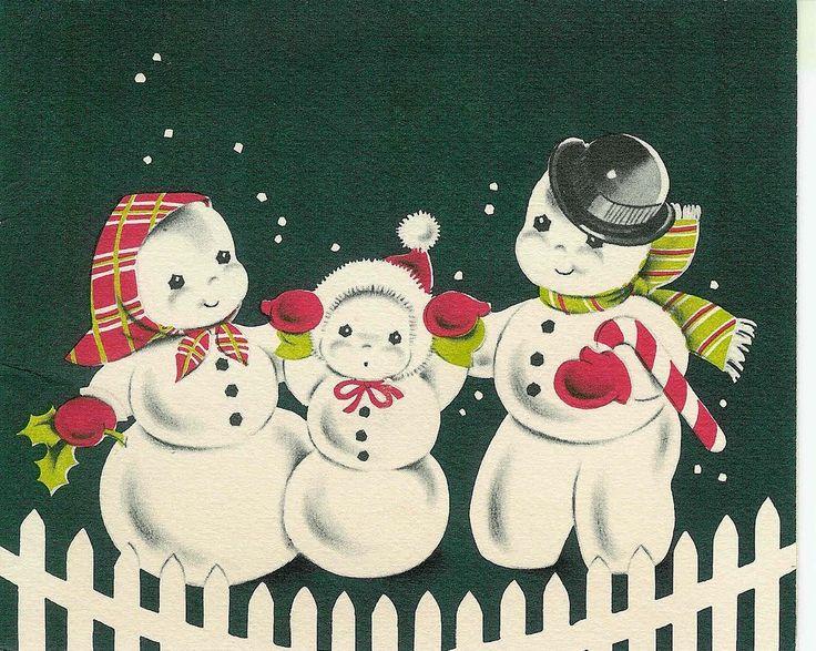 vintage snowman clipart - photo #35