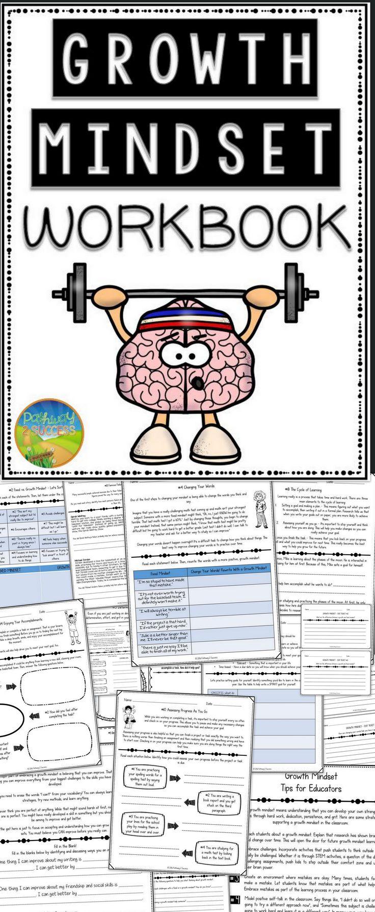 worksheet Growth Mindset Worksheet 253 best growth mindset images on pinterest psychology personal workbook