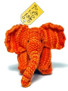 Elephants remember - sweet pattern designed by 8 years old Cee Cee for the children who had lost their toys in 2011 Missouri tornadoes