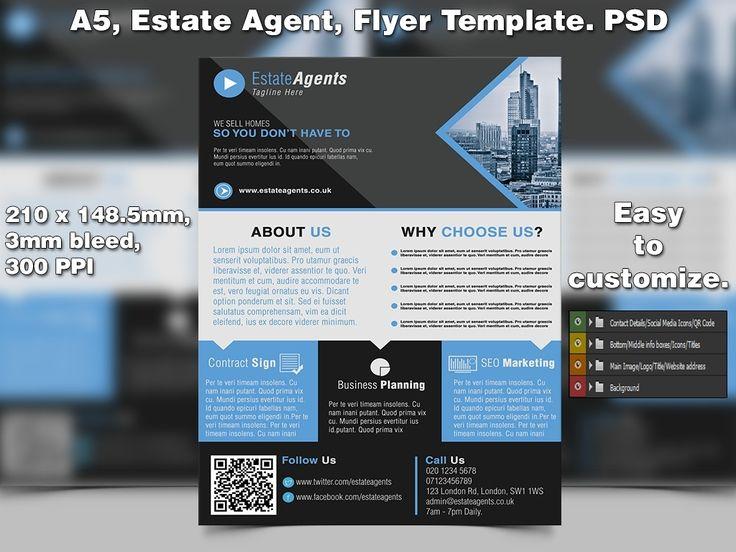 7 best Estate Agent/Real Estate Flyer Template Ideas images on