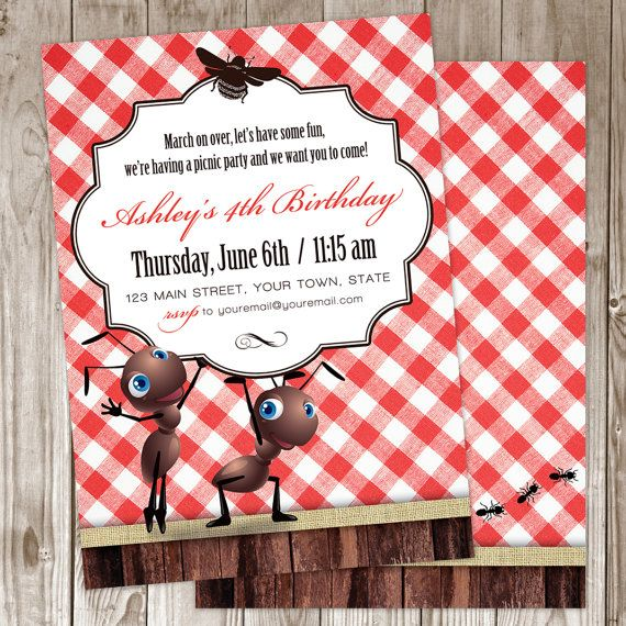36 best images about Violet 1st Bday invitations – Picnic Party Invitations