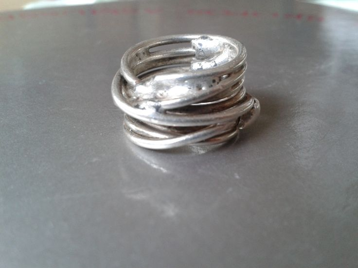 Silver ring - wire wrapped