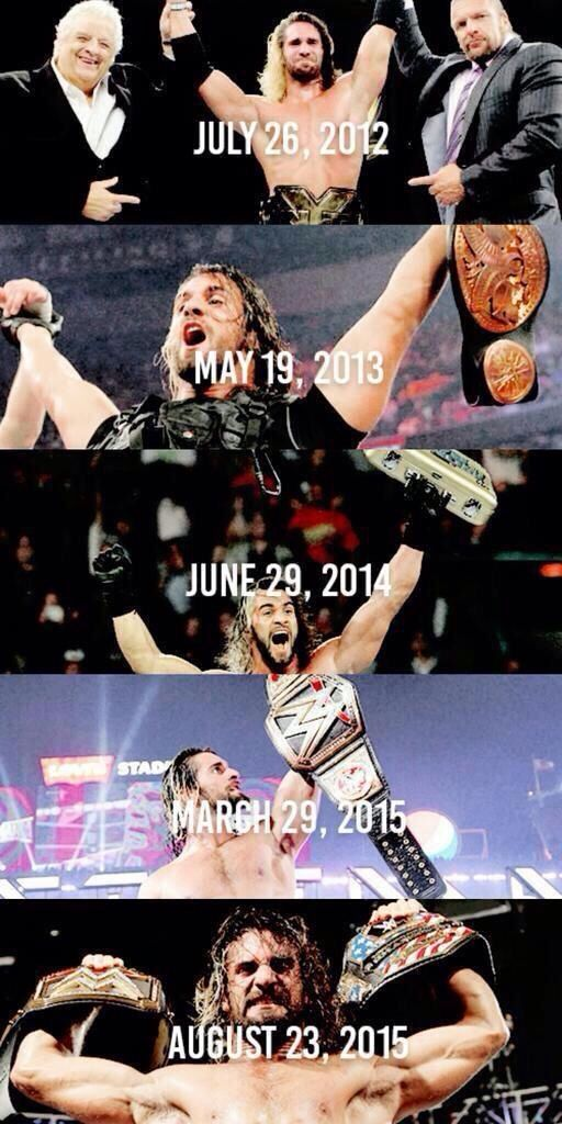 What a great 3 years for Seth Rollins!