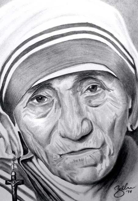 Matka Tereza (Mother Teresa) / portrét ceruzou/ pencil portrait/ © 2011