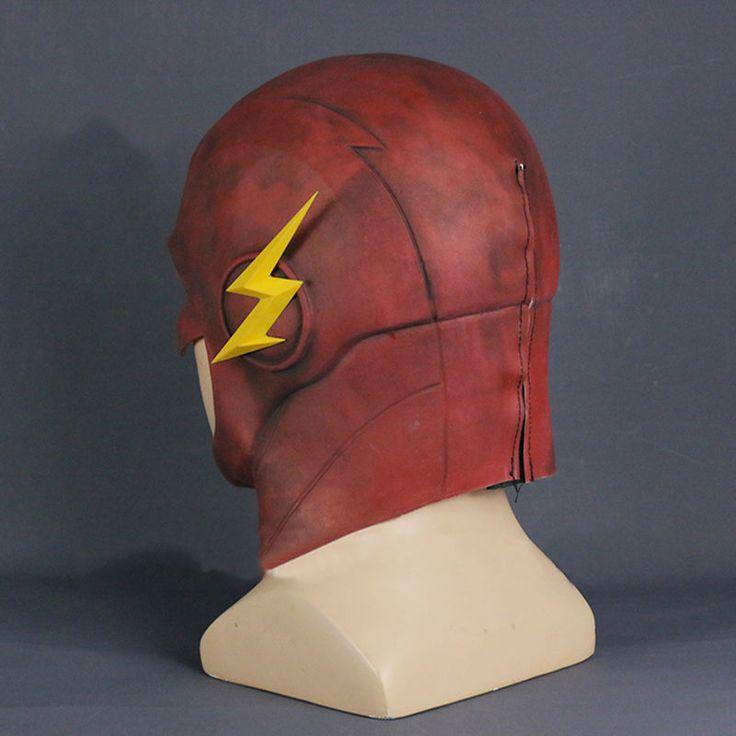 2017 The Flash Mask Cosplay Allen Helmet Halloween Full Face Latex Mask Hood New6