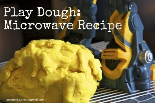 Play Dough Microwave Recipe Lessons Learnt Journal: Microwave Plays, Microwave Playdough Recipes, Stove Cooking, Easy Recipes, Cooking Plays, Play Dough, Plays Dough Recipes, Microwave Recipes, Dough Microwave