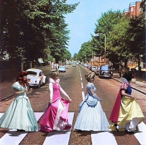 Why did the princesses cross the road?: The Beatles, Disney Stuff, Awesome, Disney Princesses, Funny, Princess Abbey, Abbey Road, Things Disney, Roads