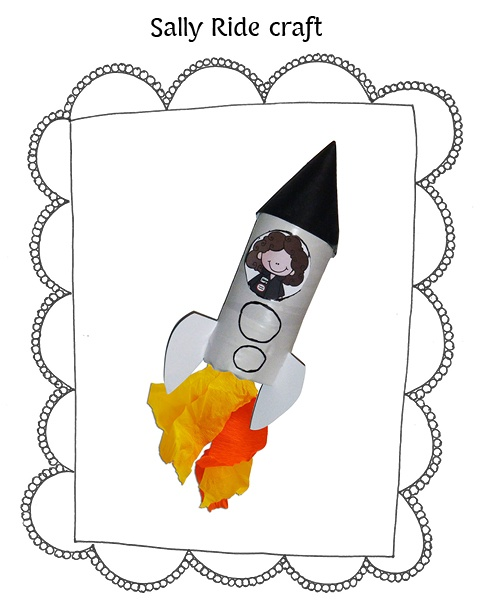 Sally Ride Spaceship Craft from my Women's History Month Unit.