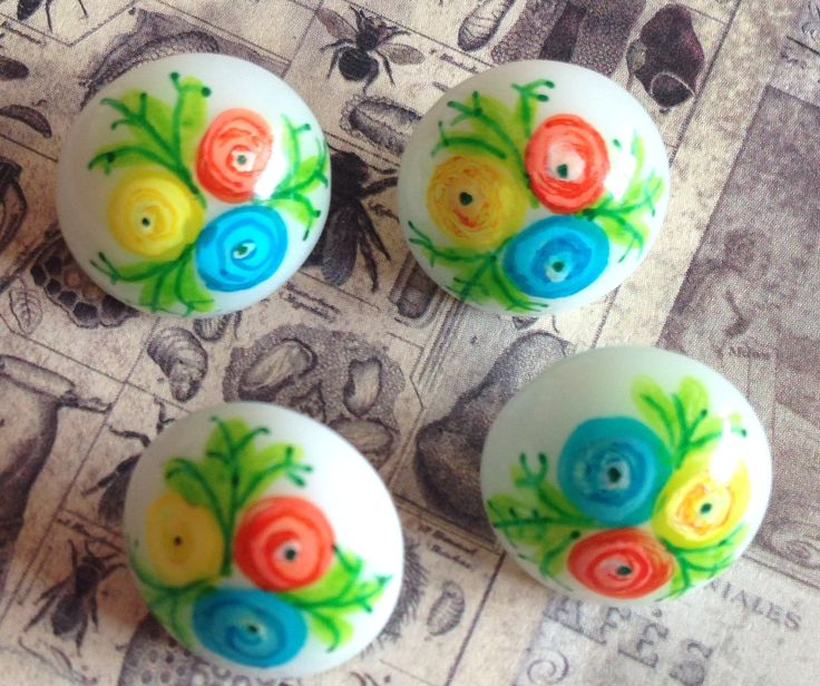 Hand painted by button tree