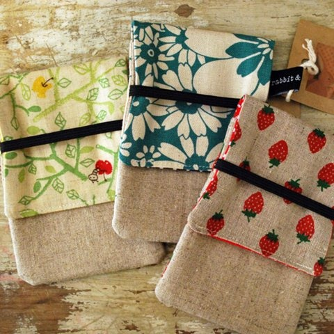 Keep your phone safe with these lovely phone pouches. By Rabbit & the Duck