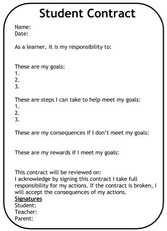 student contracts templates - pinterest the world s catalog of ideas