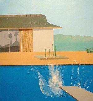The Splash by David Hockney, 1966.
