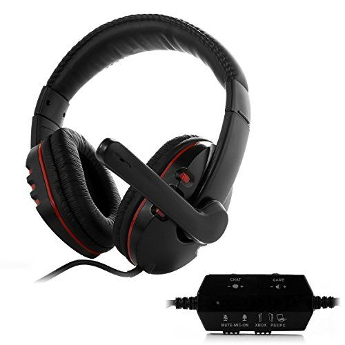 HUHD Wired Gaming Headset/Headphones HG-669MV for PS4, PS3, and Xbox 360, PC, Compatible with Xbox One(If Customer Have Microsoft Adapter) ,Noise Cancelling, Detachable Microphone