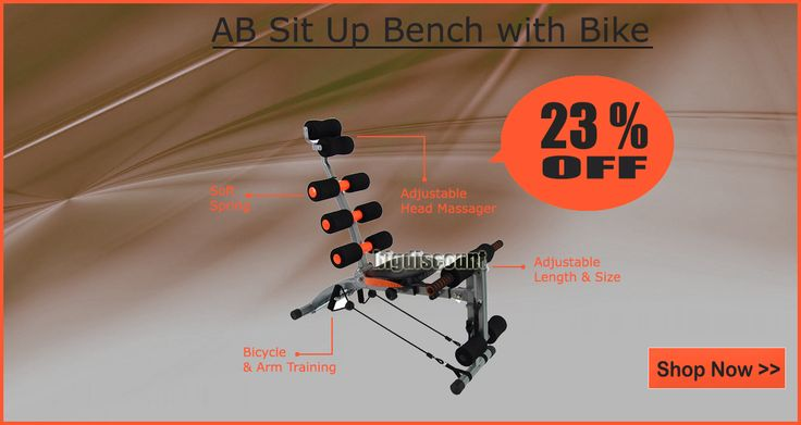 Save Over 20% on Ab sit up bench  at http://www.bigdiscount.com.au/ab-six-pack-care-bike-sit-up-bench.html #situpbench #bigdiscount