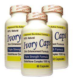 (3 Pack) Ivory Caps **BEST VALUE**- Maximum Potency Glutathi
