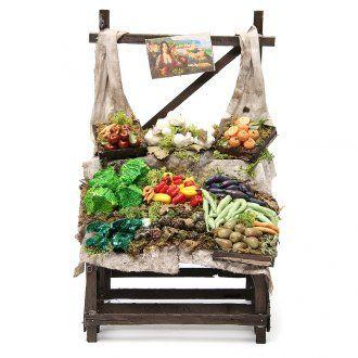 Puesto de mercado de frutero en cera 40x23x21 cm | venta online en HOLYART