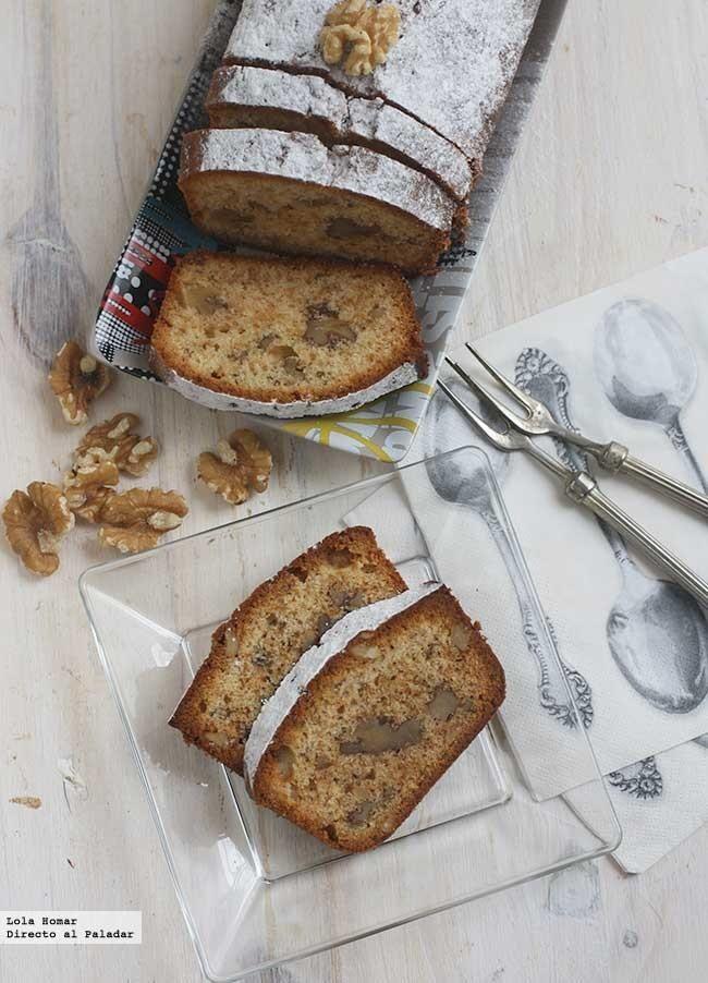 Receta de cake de miel y nueces. Receta de postres. con fotos de presentación y del paso a paso y consejos de elaboración, presentación y degust...