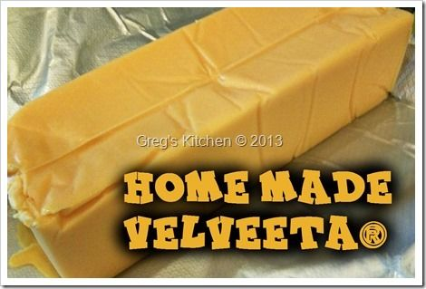 Homemade velveeta | hmmm, no preservatives or artificial stuff... interesting.