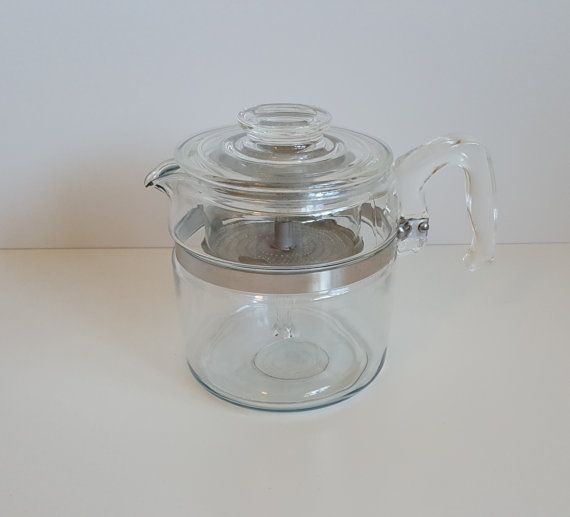 Vintage Pyrex 6 Cup Glass Flameware Coffee by RetroEnvy21 on Etsy