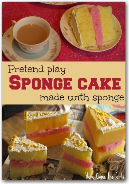 Fun craft to do with the kids - make some pretend cakes for their play kitchen. They look good enough to eat.