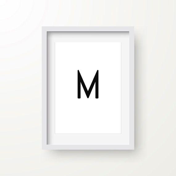 Buchstaben M-Print moderne Kunst abstrakte Kunst von FinlayAndNoa