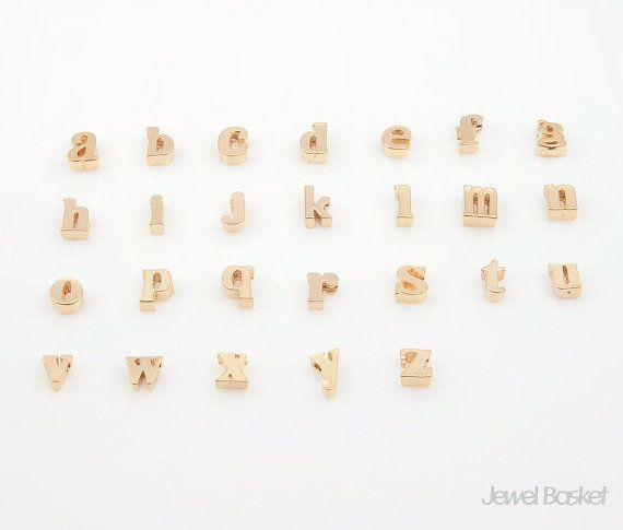 "Matte Gold Alphabet - Small Letter ""a""  - Matte Gold Plated (Tarnish Resistant) - Brass / 5mm x 6.6mm  - 2pcs / 1pack"