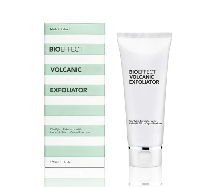 BIOEFFECT VOLCANIC EXFOLIATOR is a clarifying facial exfoliator containing Icelandic micro-crystalline lava, which deep-cleanses and smooths the skin, leaving it feeling soft and refreshed.
