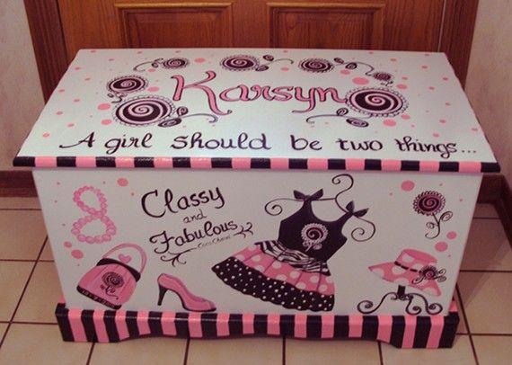 Glamour Girl Toy Chest Custom Designed by originalsbybarbmazur, $279.00