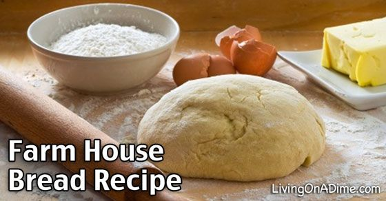 This Farm House Bread Recipe is an easy recipe for the most delicious tasting farmhouse bread! It works with or without a bread machine.