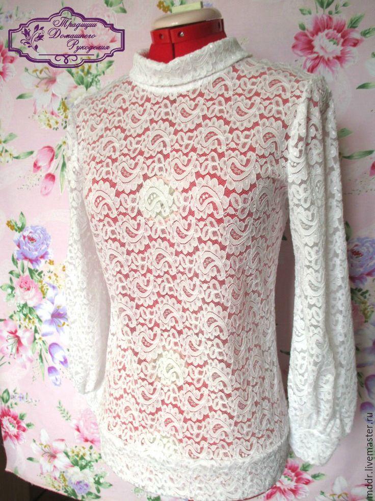 Купить блузка Сливочная пенка - гипюр, гипюровая блузка, кружевная блузка, блуза, блузка