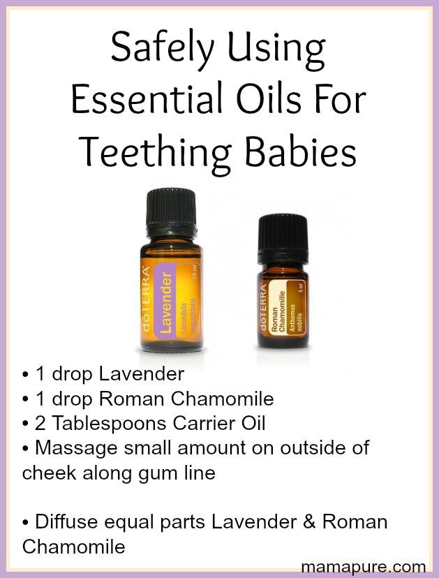 Safely Using Essential Oils For Teething Babies - mama pure