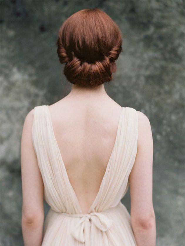 Gibson Roll | Wedding Hair Inspiration | Photo by Heather Hawkins