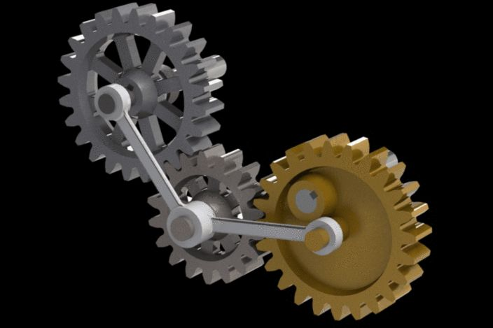 Variable speed with  constant rotation motor-eccentric gear