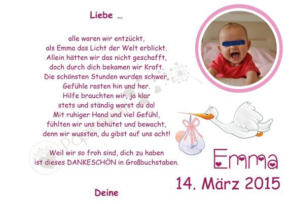 Danke An Die Hebamme Geburt Baby Geschenk A4 Word Search Puzzle Words