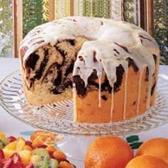 Feuchter Marmor-Chiffon-Kuchen